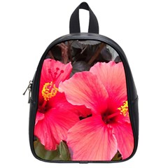Red Hibiscus School Bag (Small)