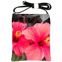 Red Hibiscus Shoulder Sling Bag