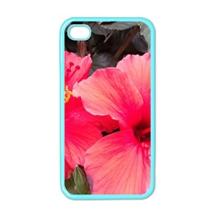Red Hibiscus Apple iPhone 4 Case (Color)