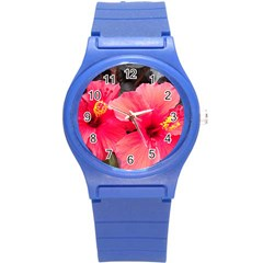 Red Hibiscus Plastic Sport Watch (Small)