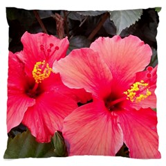Red Hibiscus Large Cushion Case (One Side)