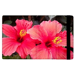 Red Hibiscus Apple iPad 2 Flip Case
