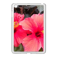 Red Hibiscus Apple Ipad Mini Case (white)