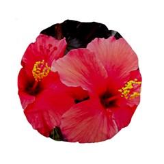 Red Hibiscus 15  Premium Round Cushion
