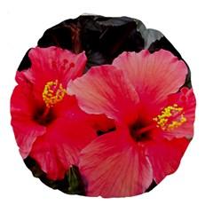 Red Hibiscus 18  Premium Round Cushion