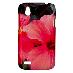 Red Hibiscus HTC T328W (Desire V) Case