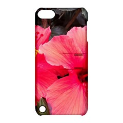 Red Hibiscus Apple iPod Touch 5 Hardshell Case with Stand