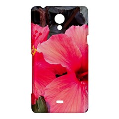 Red Hibiscus Sony Xperia T Hardshell Case