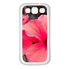 Red Hibiscus Samsung Galaxy S3 Back Case (White)