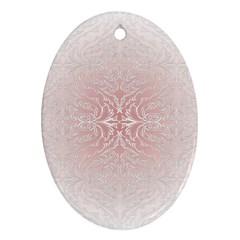 Elegant Damask Oval Ornament