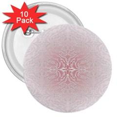 Elegant Damask 3  Button (10 pack)