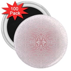 Elegant Damask 3  Button Magnet (100 Pack)