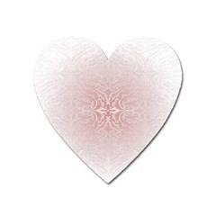 Elegant Damask Magnet (Heart)