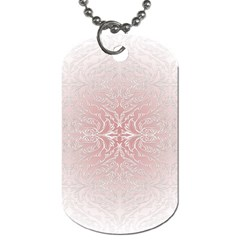 Elegant Damask Dog Tag (One Sided)