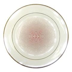 Elegant Damask Porcelain Display Plate