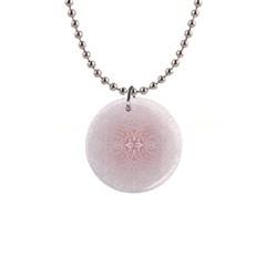 Elegant Damask Button Necklace