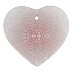 Elegant Damask Heart Ornament (Two Sides)