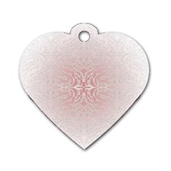 Elegant Damask Dog Tag Heart (One Sided)