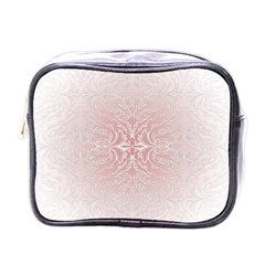 Elegant Damask Mini Travel Toiletry Bag (one Side)