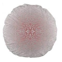 Elegant Damask 18  Premium Round Cushion
