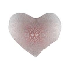 Elegant Damask 16  Premium Heart Shape Cushion
