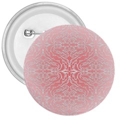 Pink Elegant Damask 3  Button