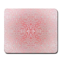Pink Elegant Damask Large Mouse Pad (Rectangle)