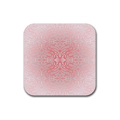 Pink Elegant Damask Drink Coaster (square)