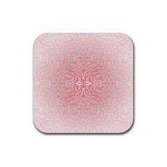Pink Elegant Damask Drink Coasters 4 Pack (Square)