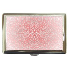 Pink Elegant Damask Cigarette Money Case