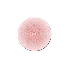 Pink Elegant Damask Golf Ball Marker 4 Pack