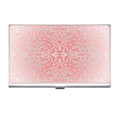 Pink Elegant Damask Business Card Holder