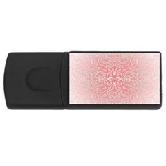 Pink Elegant Damask 1GB USB Flash Drive (Rectangle)