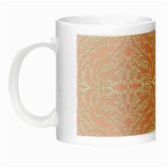 Pink Elegant Damask Glow in the Dark Mug