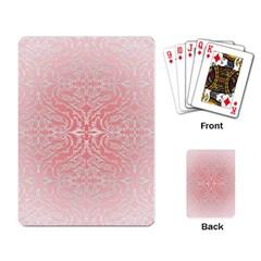 Pink Elegant Damask Playing Cards Single Design