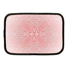 Pink Elegant Damask Netbook Case (medium)