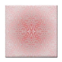 Pink Elegant Damask Face Towel