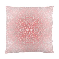 Pink Elegant Damask Cushion Case (one Side)