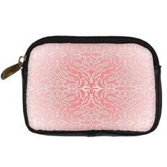 Pink Elegant Damask Digital Camera Leather Case