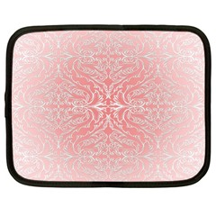 Pink Elegant Damask Netbook Case (XL)