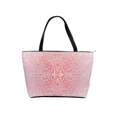 Pink Elegant Damask Large Shoulder Bag