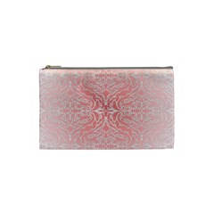 Pink Elegant Damask Cosmetic Bag (Small)