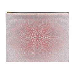 Pink Elegant Damask Cosmetic Bag (xl)