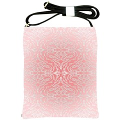 Pink Elegant Damask Shoulder Sling Bag