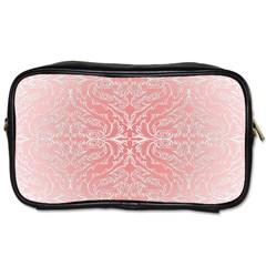 Pink Elegant Damask Travel Toiletry Bag (One Side)
