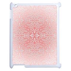 Pink Elegant Damask Apple iPad 2 Case (White)