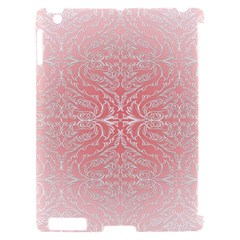 Pink Elegant Damask Apple iPad 2 Hardshell Case (Compatible with Smart Cover)