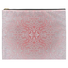 Pink Elegant Damask Cosmetic Bag (xxxl)