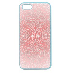 Pink Elegant Damask Apple Seamless Iphone 5 Case (color)