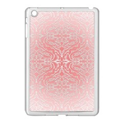 Pink Elegant Damask Apple Ipad Mini Case (white)